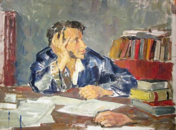 Неоконченный портрет А.С. Пушкина, художник Николай Ульянов.