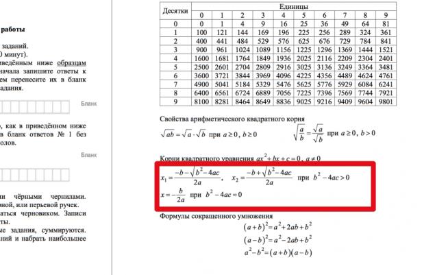 Схемы математика к егэ
